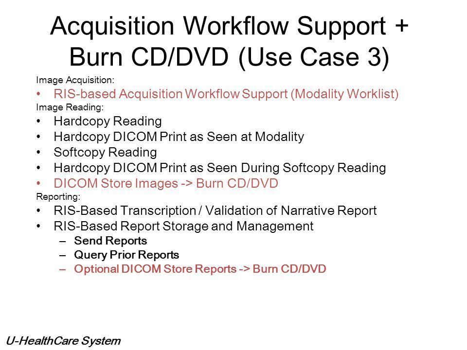U-HealthCare System Hardcopy and Softcopy Image Reading + Dictation/Transcription (Use Case 2) Hardcopy Interpretation & Dictation Hardcopy Interpreta