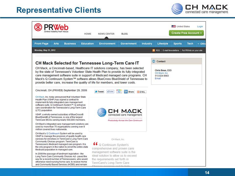 14 Representative Clients