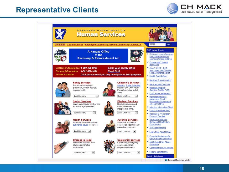 15 Representative Clients