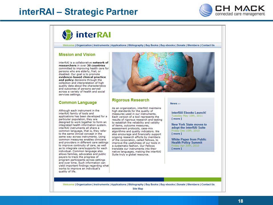 18 interRAI – Strategic Partner