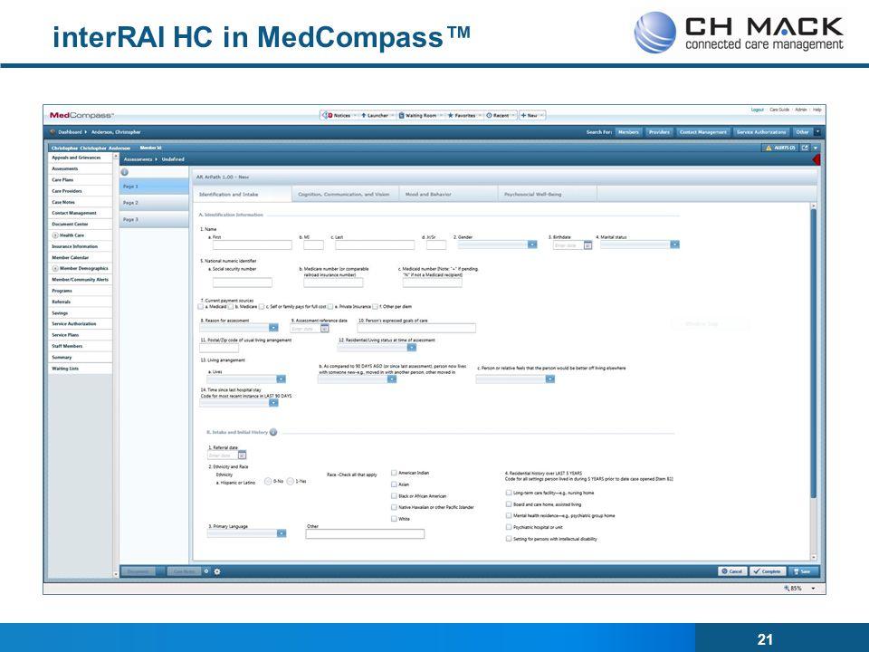 21 interRAI HC in MedCompass™