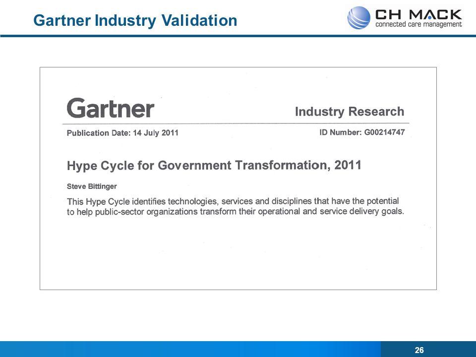 26 Gartner Industry Validation