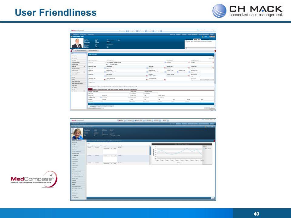 40 User Friendliness