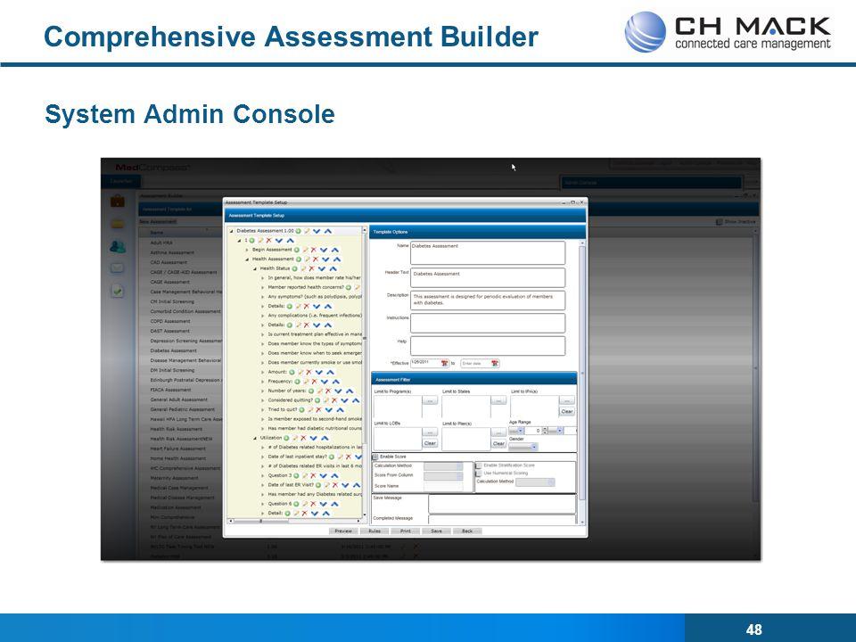 48 Comprehensive Assessment Builder System Admin Console