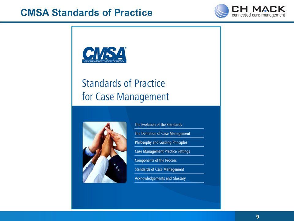 9 CMSA Standards of Practice
