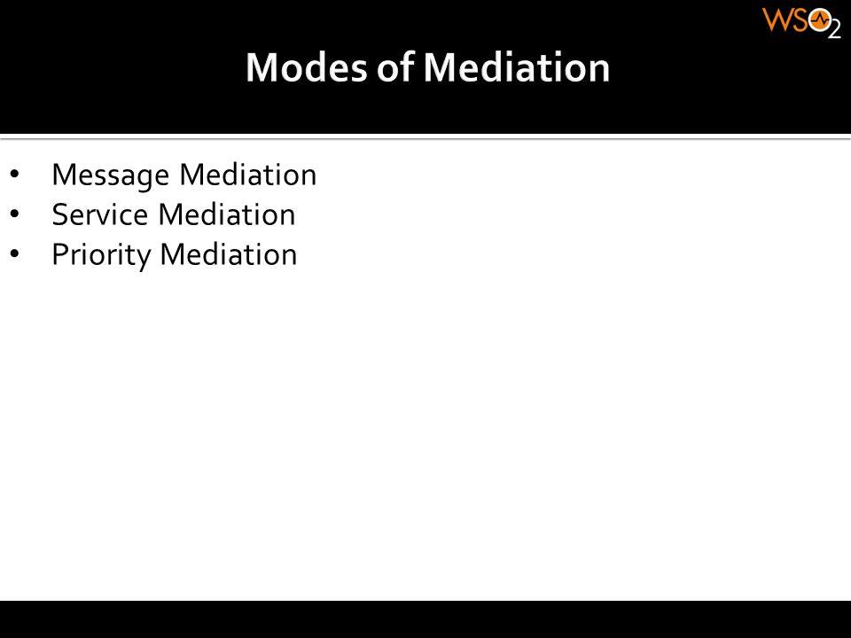 Message Mediation Service Mediation Priority Mediation