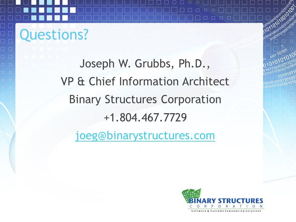 Questions. Joseph W.