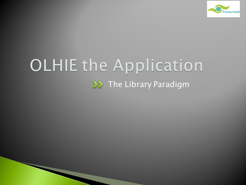 The Library Paradigm