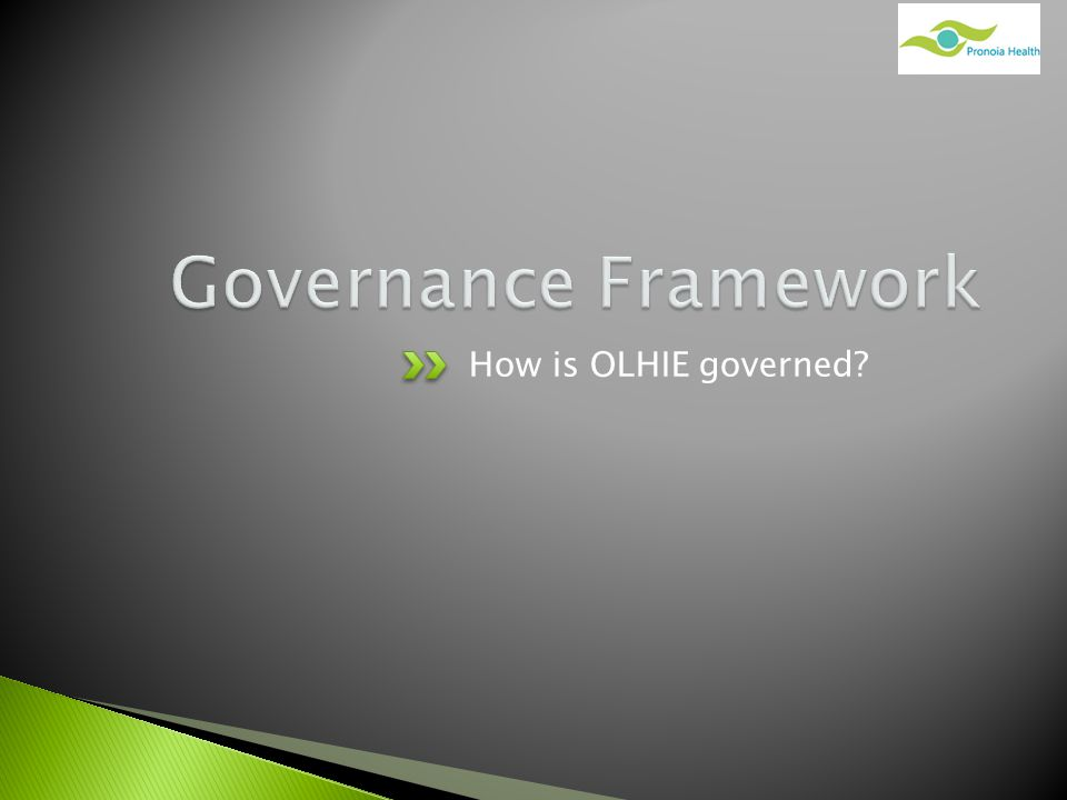 How is OLHIE governed?