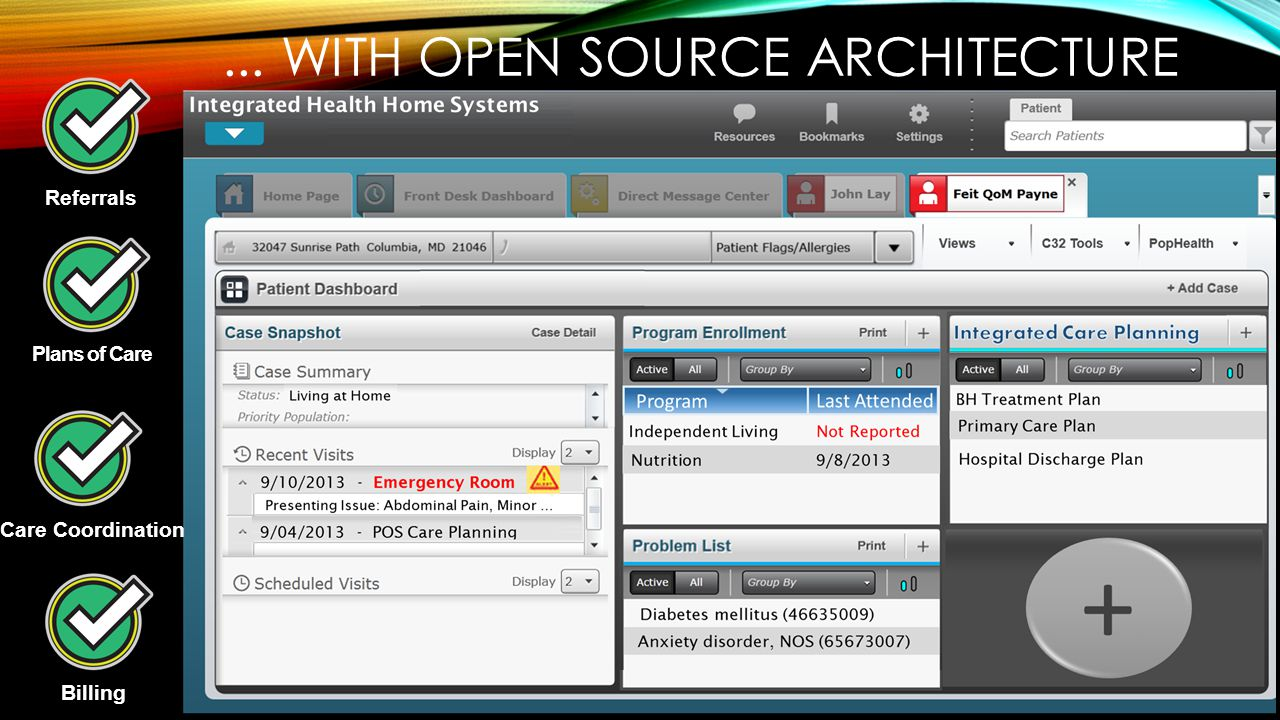 Referrals Plans of Care Care Coordination Billing... WITH OPEN SOURCE ARCHITECTURE