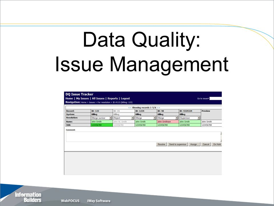 Data Quality: Issue Management