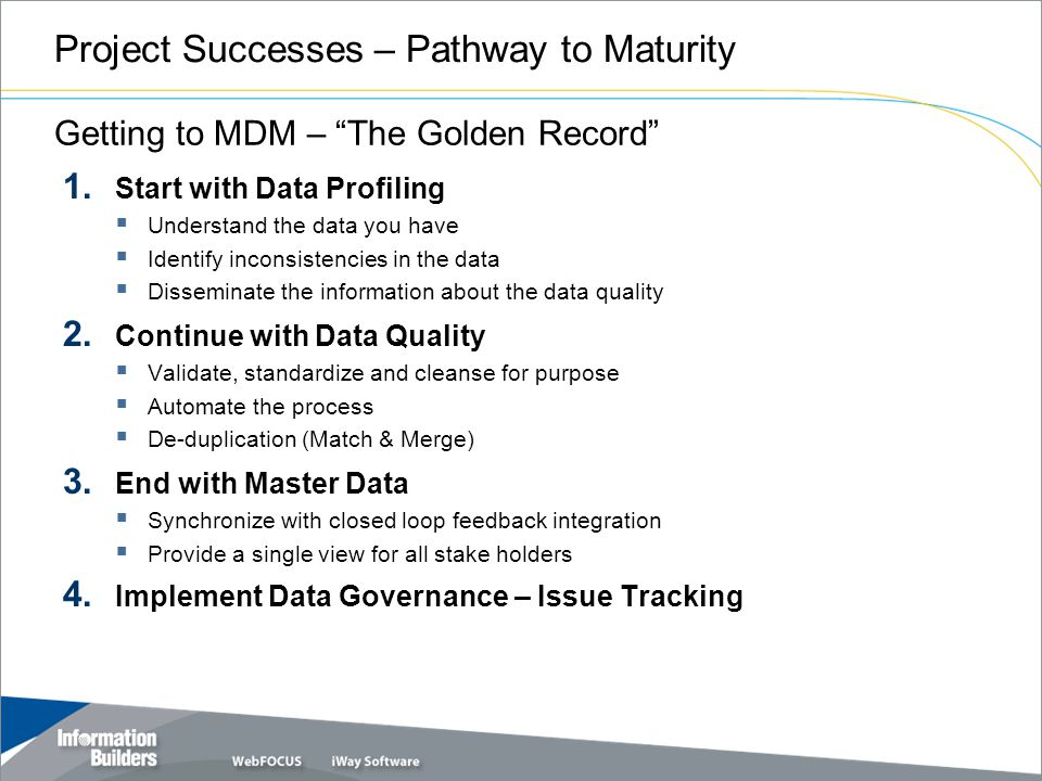 Project Successes – Pathway to Maturity 1.