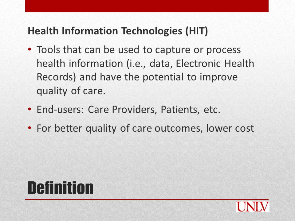 Examples 8 Core Health IT functions in LTC Supportive documentation o e.g., financial, administrative, clinical information Census management Point-of-care (PoC) Computerized physician order entry (CPOE) Electronic health record (EHR) Telehealth or telemedicine Assessment and care planning Electronic prescribing Source: HHS, Evaluation Design of the Business Case of Health Information Technology in Long-Term Care: Final Report, Booz Allen Hamilton, July 13, 2006