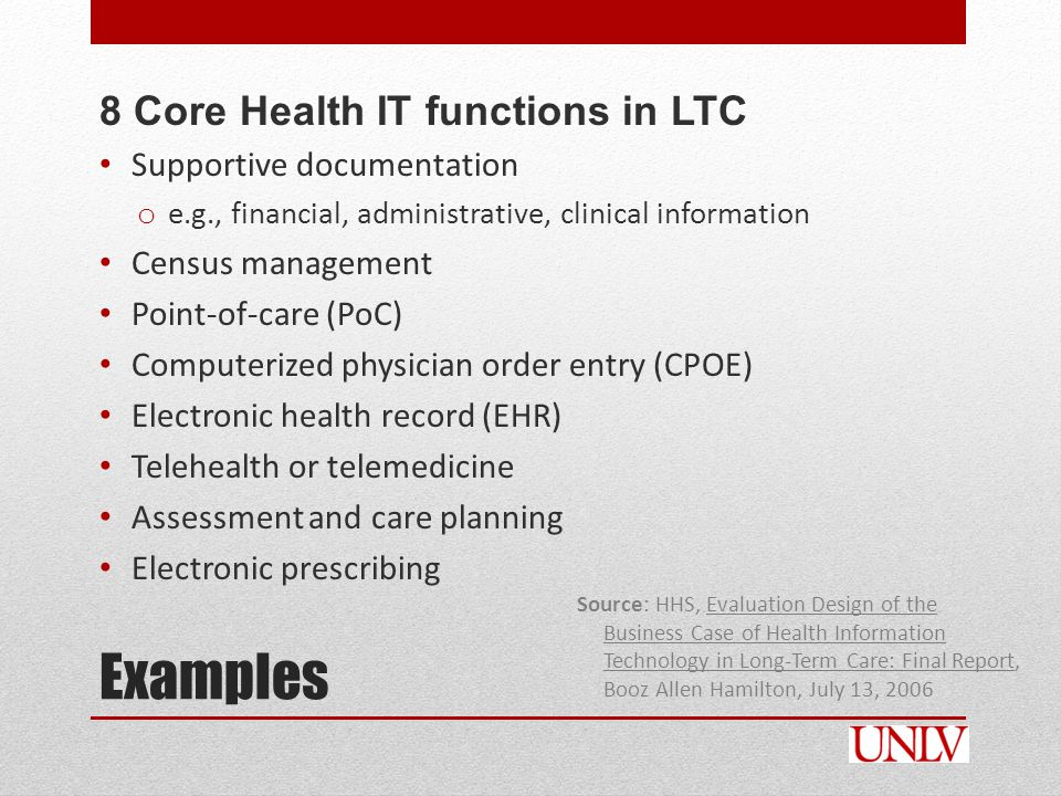 EHRs and Meaningful Use in Long-Term Care In the current proposed ACA rule, LTC providers are NOT included in the ACO groups who are eligible for incentive payments for implementation and meaningful use of certified EHR technology.