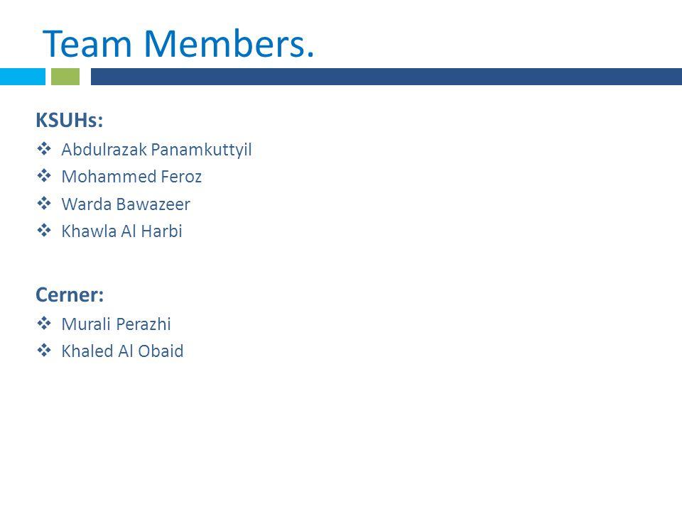 * Team Members..
