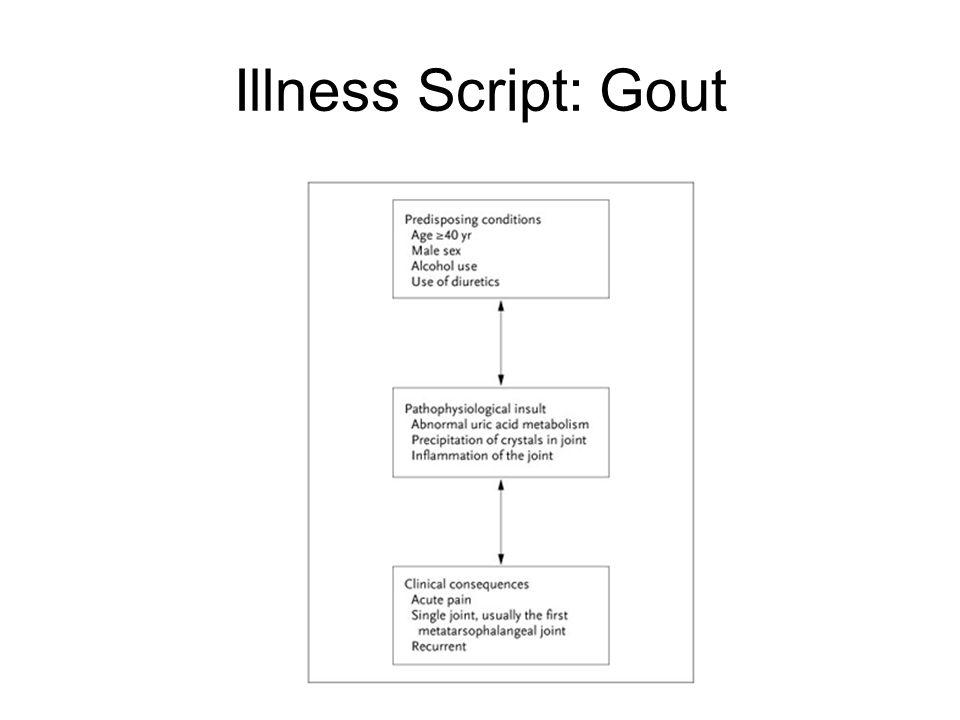 Illness Script: Gout