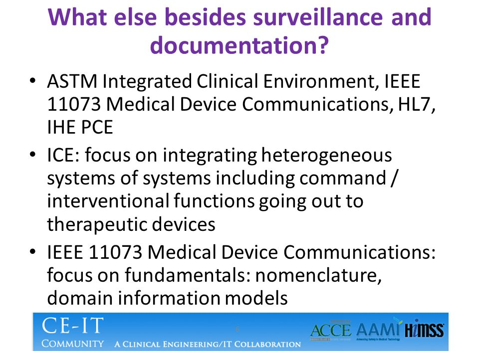 What else besides surveillance and documentation.