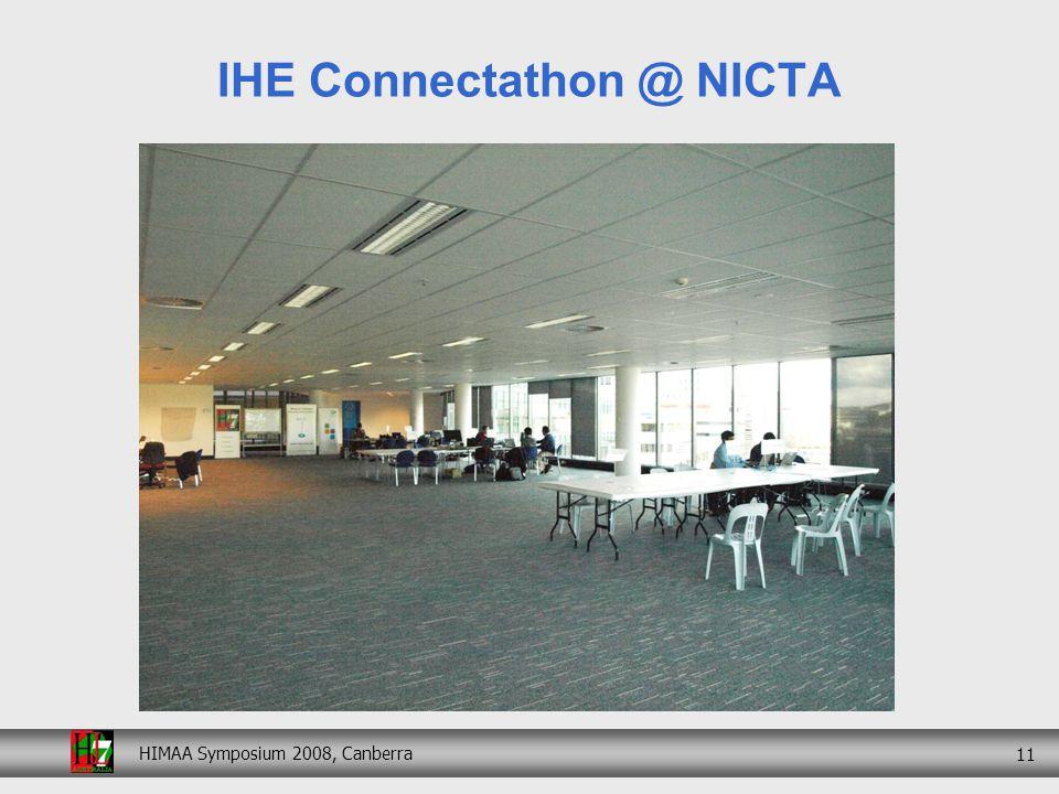 HIMAA Symposium 2008, Canberra 11 IHE Connectathon @ NICTA