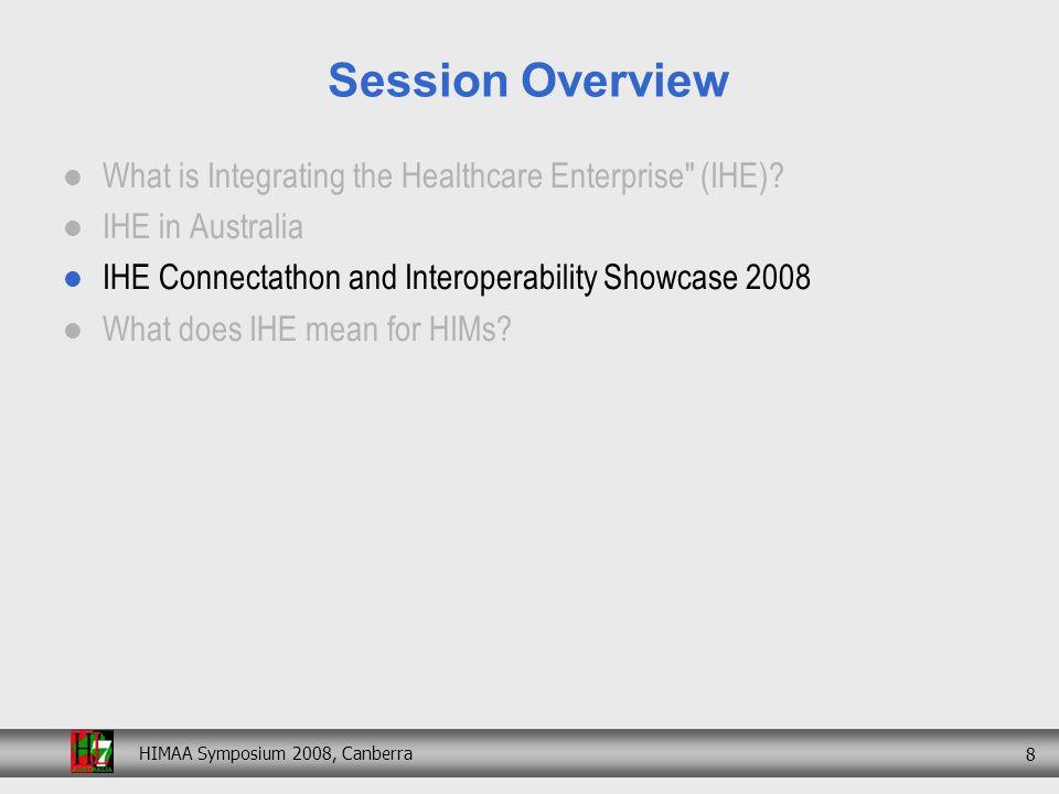 HIMAA Symposium 2008, Canberra 19 4 th Interoperability Showcase