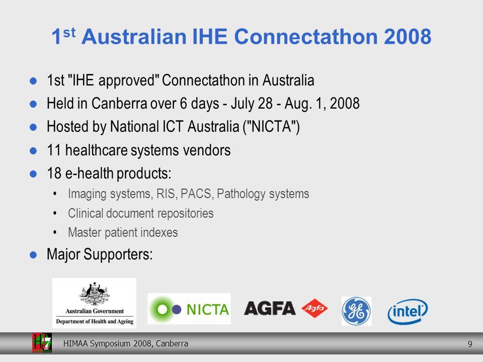 HIMAA Symposium 2008, Canberra 20 4 th Interoperability Showcase