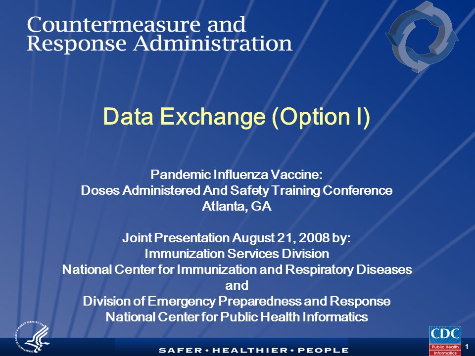 TM 2 Purpose Provide detailed technical information about using Data Exchange (Option 1) to upload or message a data file to CDC s CRA system for aggregate reporting of doses administered during a public health event.