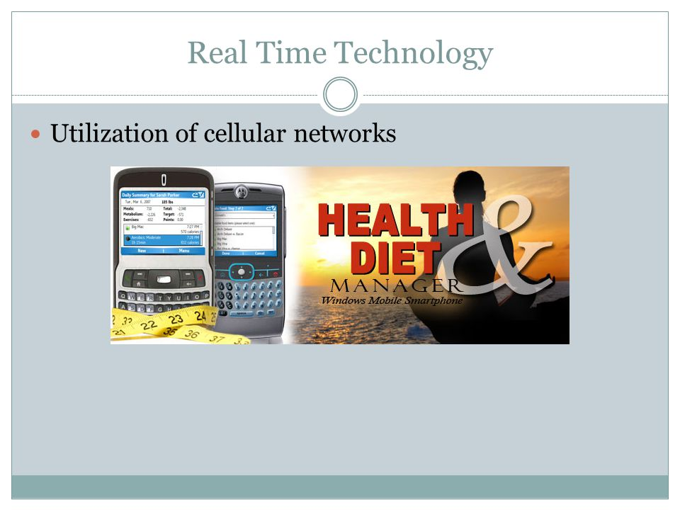 Real Time Technology Utilization of cellular networks