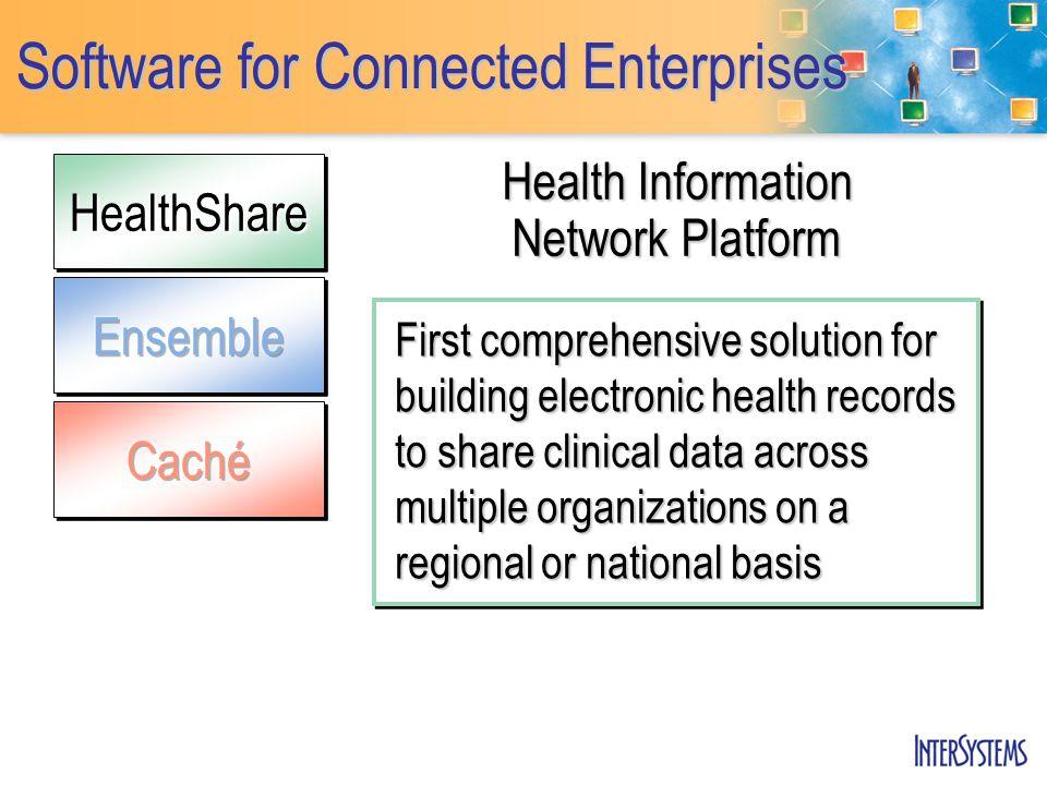 HealthShareHealthShare Software for Connected Enterprises Health Information Network Platform First comprehensive solution for building electronic hea