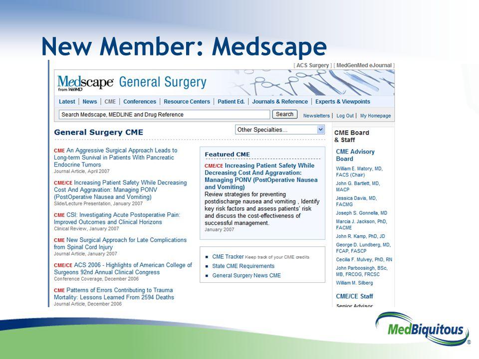 ® New Member: Medscape