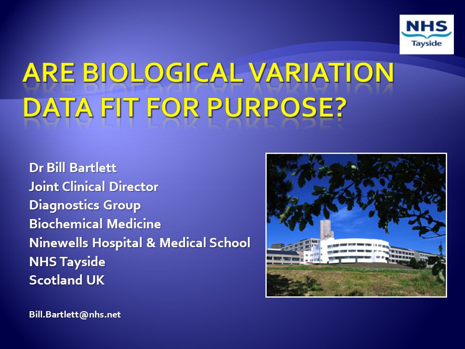  Analytical variance (CV A ). Within Subject biological variance (CV I ).