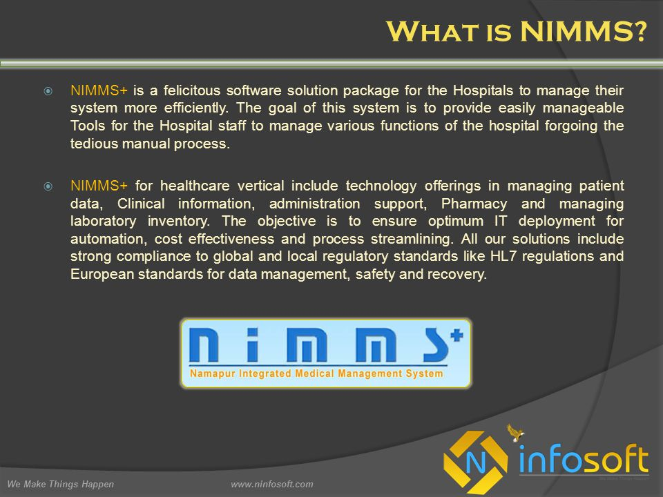 What is NIMMS.