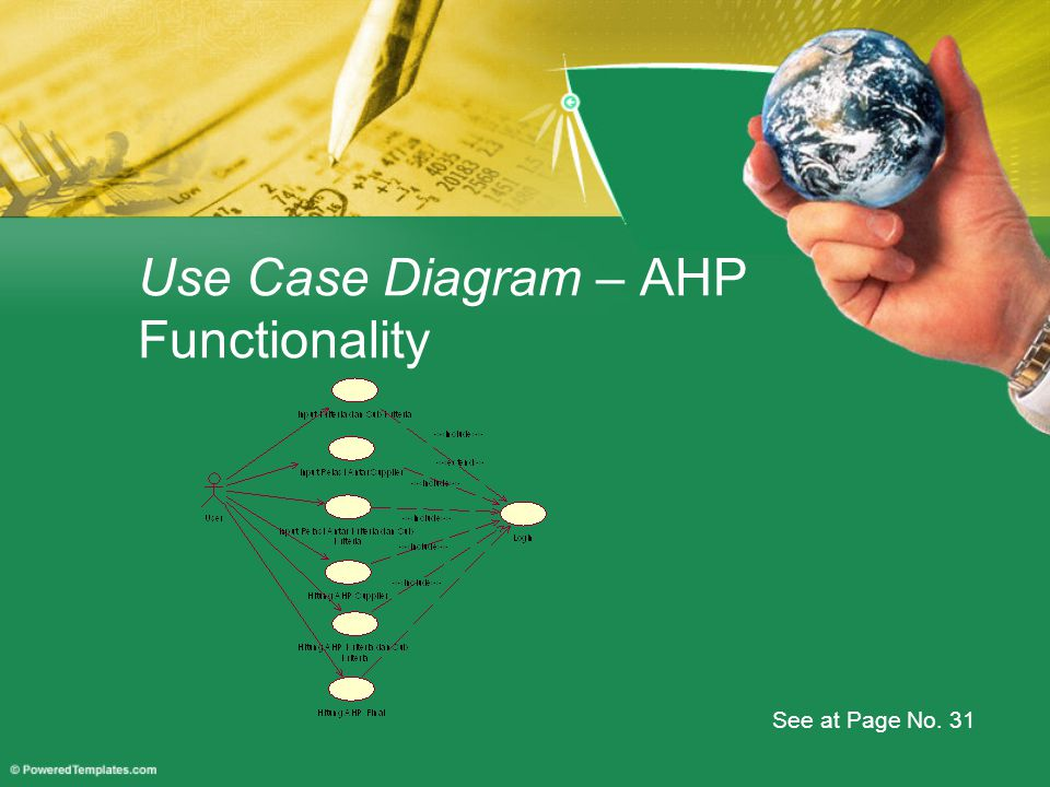Use Case Diagram – AHP Functionality See at Page No. 31
