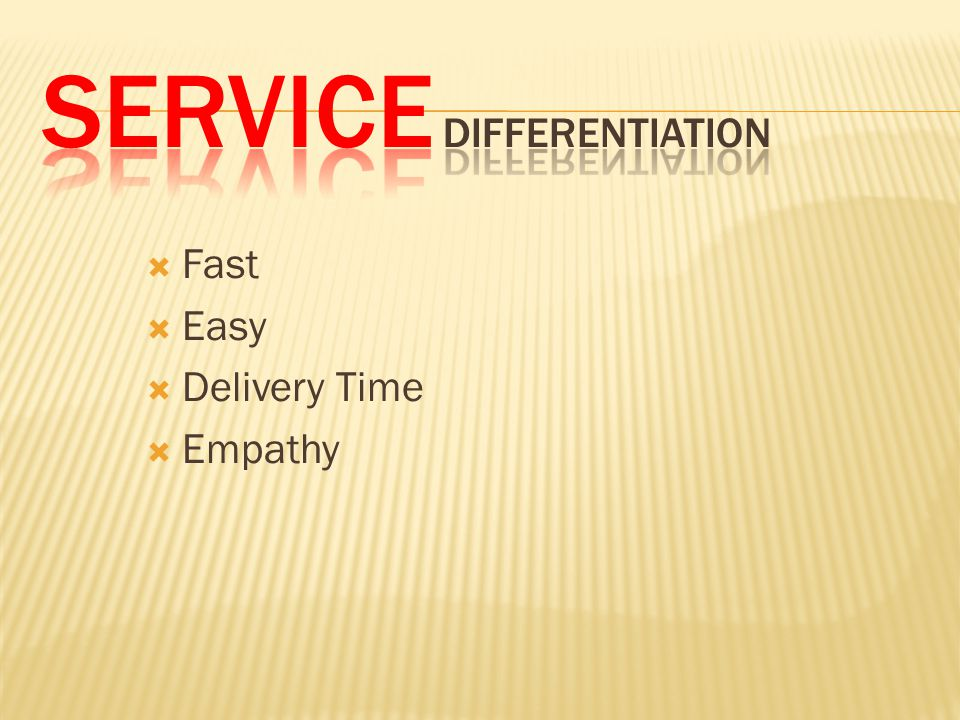  Fast  Easy  Delivery Time  Empathy
