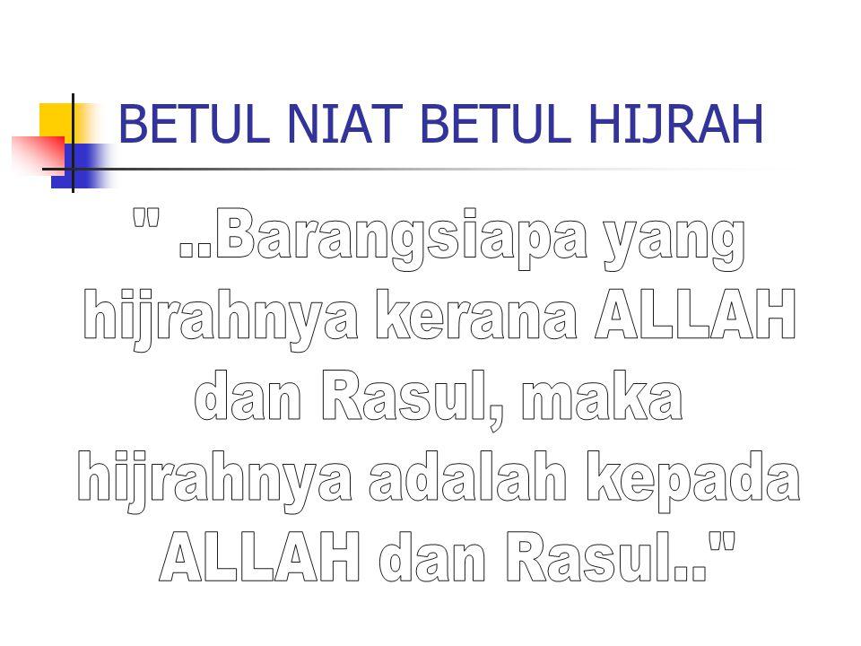 BETUL NIAT BETUL HIJRAH