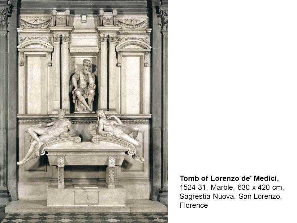 Night, 1526-33, Marble, length: 194 cm, Sagrestia Nuova, San Lorenzo, Florence Day, 1526-33, Marble, length: 185 cm, Sagrestia Nuova, San Lorenzo, Florence