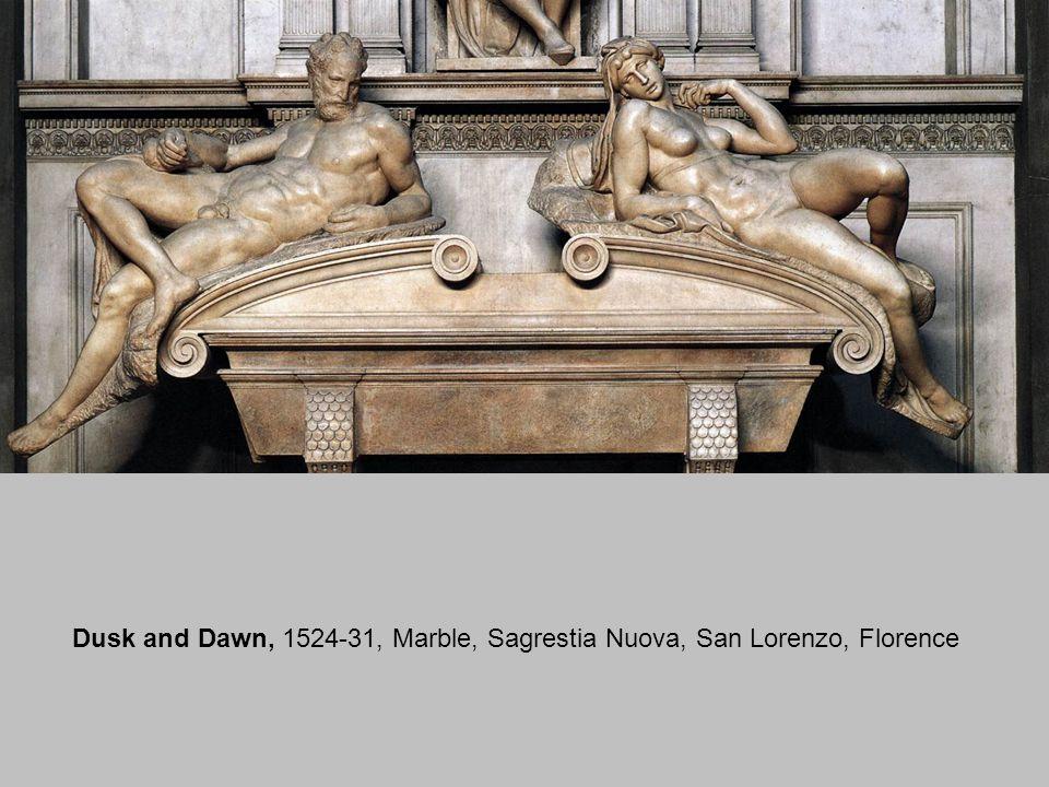 Tomb of Lorenzo de Medici, 1524-31, Marble, 630 x 420 cm, Sagrestia Nuova, San Lorenzo, Florence