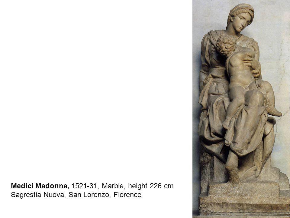 Dusk and Dawn, 1524-31, Marble, Sagrestia Nuova, San Lorenzo, Florence