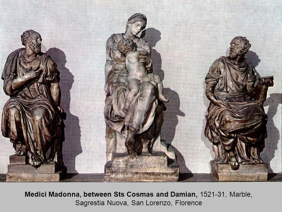 Medici Madonna, 1521-31, Marble, height 226 cm Sagrestia Nuova, San Lorenzo, Florence