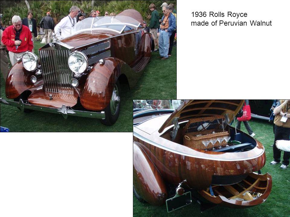 1936 Rolls Royce made of Peruvian Walnut