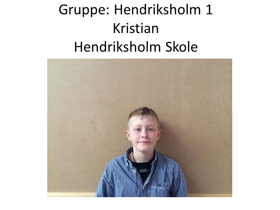 Gruppe: Hendriksholm 1 Kristian Hendriksholm Skole