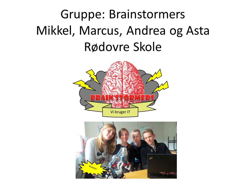 Gruppe: Brainstormers Mikkel, Marcus, Andrea og Asta Rødovre Skole