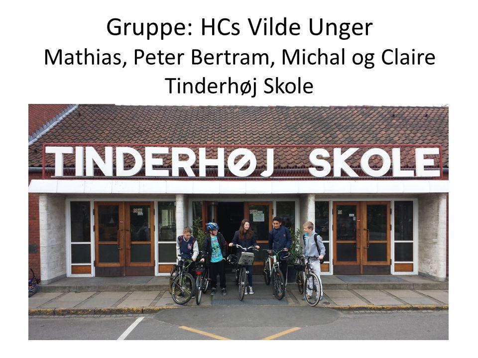 Gruppe: HCs Vilde Unger Mathias, Peter Bertram, Michal og Claire Tinderhøj Skole