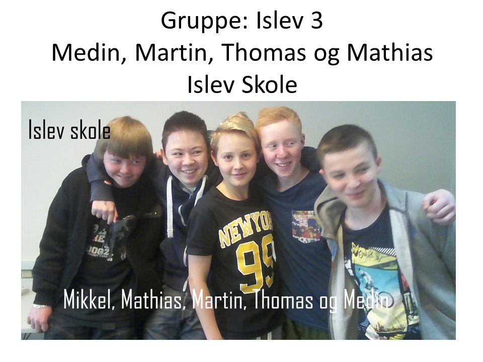 Gruppe: Islev 3 Medin, Martin, Thomas og Mathias Islev Skole