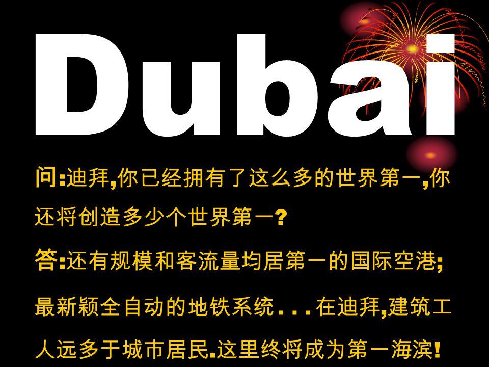 这是 2008-2009 年的迪拜全貌