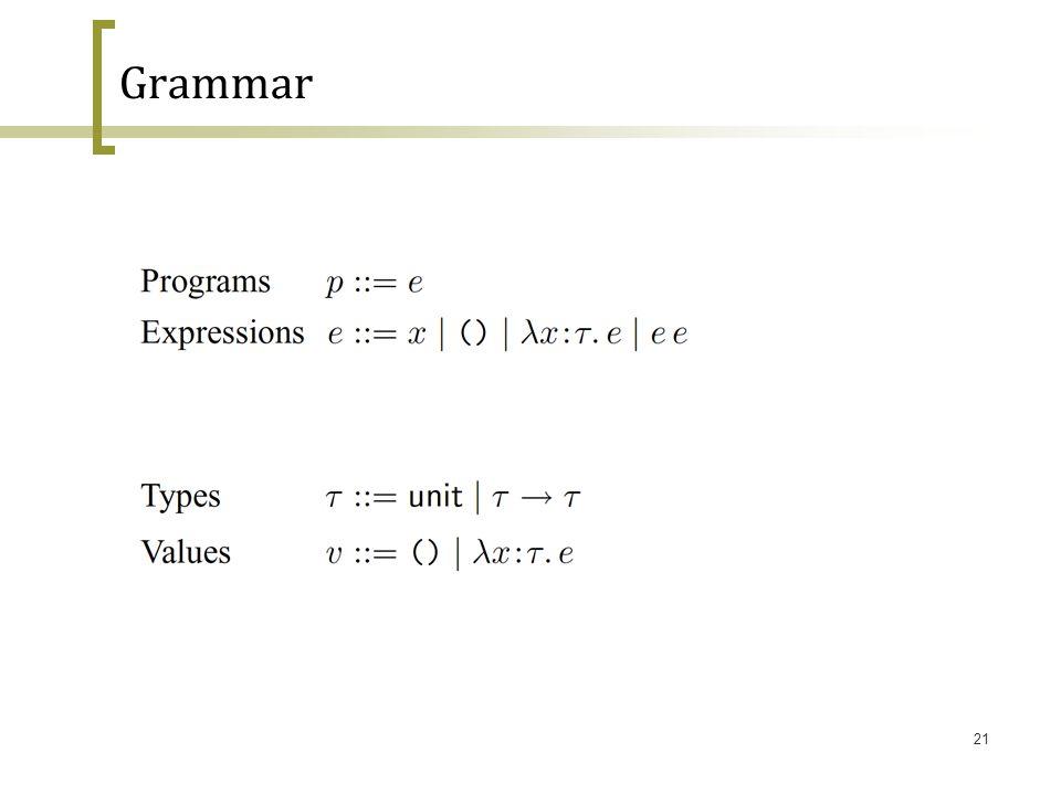 21 Grammar