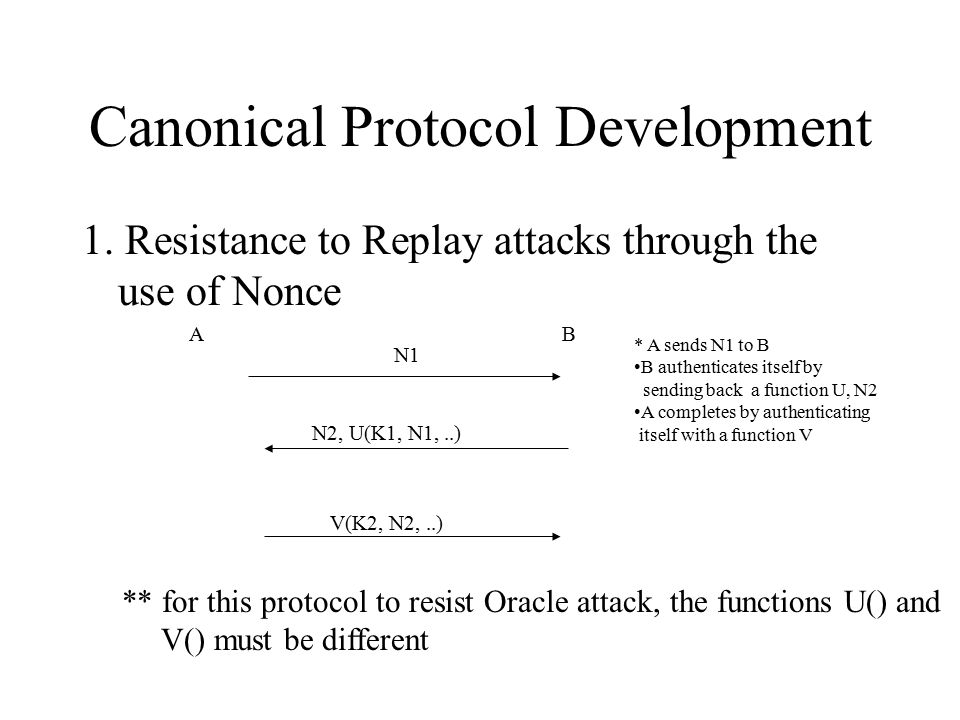 Canonical Protocol Development 1.