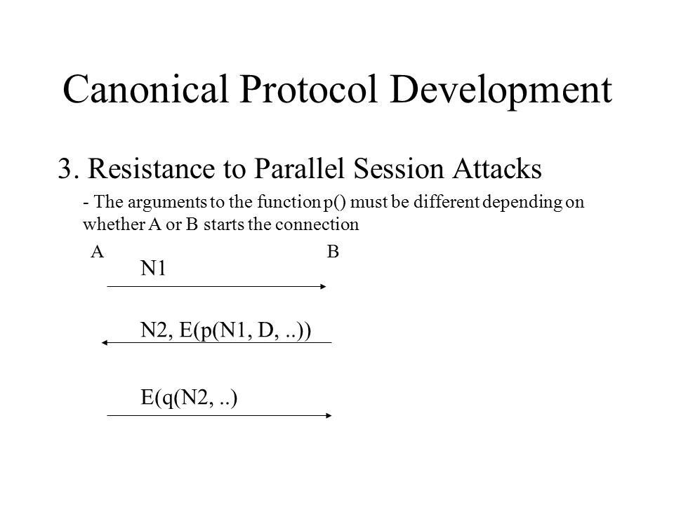 Canonical Protocol Development 3.