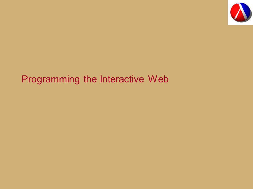 Programming the Interactive Web