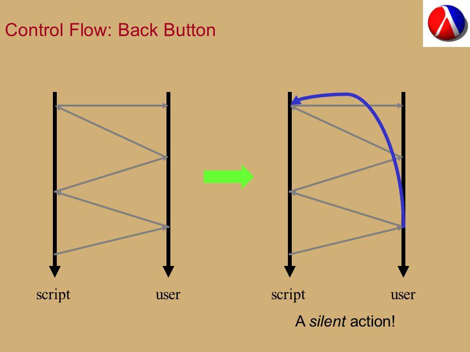 Control Flow: Back Button scriptuserscriptuser A silent action!