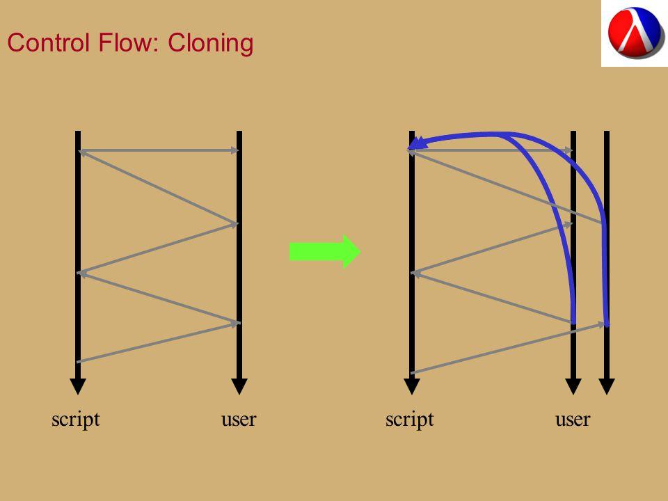 Control Flow: Cloning scriptuser scriptuser