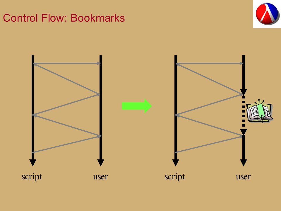 Control Flow: Bookmarks scriptuser scriptuser